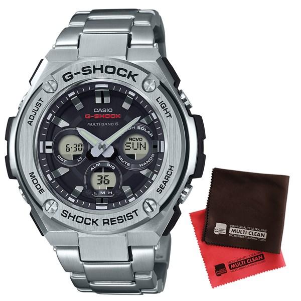 【国内正規品】【セット】[カシオ]CASIO 腕時計 GST-W310D-1AJF [ジーショック]G-SHOCK メンズ G-STEEL [GSTW310D1AJF]&マイクロファイバークロス 2枚セット【ステンレスバンド 電波ソーラー】