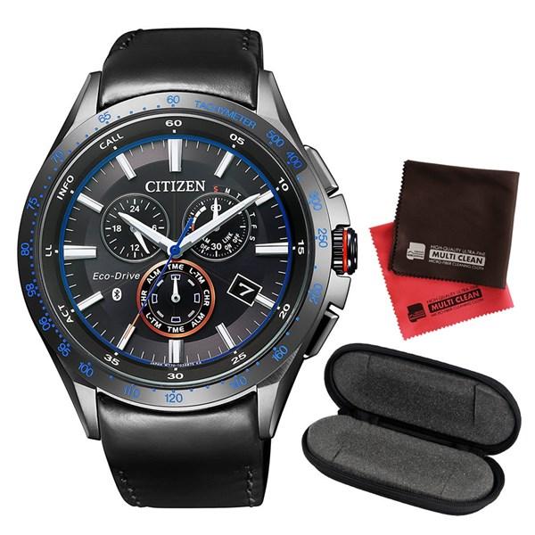 【1本用腕時計ケースセット】 CITIZEN(シチズン) 【腕時計】 BZ1035-09E エコドライブ Bluetooth[BZ103509E]&時計ケース watch-case003&当社オリジナル!マイクロファイバークロス 2枚セット