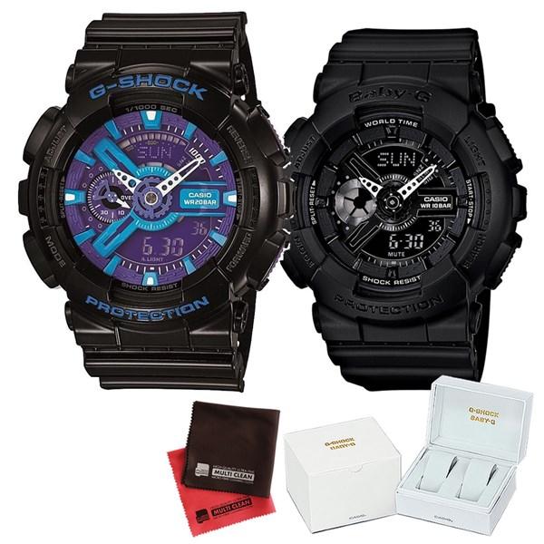 【セット】 [カシオ]CASIO 腕時計 GA-110HC-1AJF メンズ・BA-110BC-1AJF レディース・専用ペア箱(Gショック& ベビーG)・マイクロファイバークロス 2枚セット V-81776 GA110HC1AJF BA110BC1AJF [クオーツ]