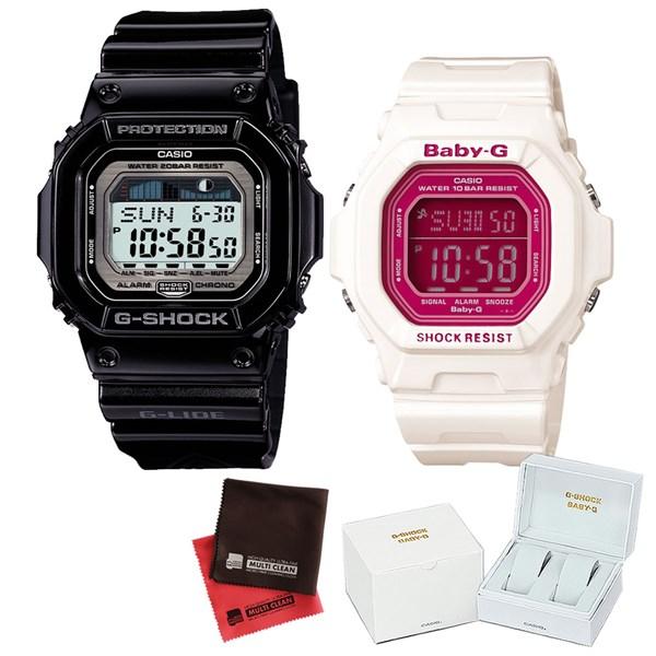 【セット】 [カシオ]CASIO 腕時計 GLX-5600-1JF メンズ・BG-5601-7JF レディース・専用ペア箱(Gショック& ベビーG)・マイクロファイバークロス 2枚セット V-81776 GLX56001JF BG56017JF [クオーツ]