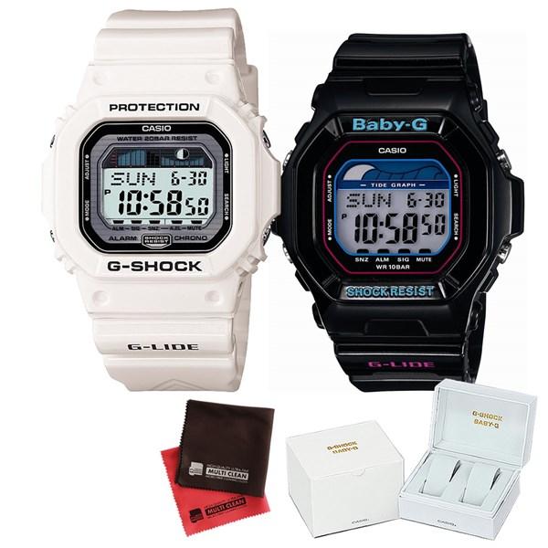 【セット】 [カシオ]CASIO 腕時計 GLX-5600-7JF メンズ・BLX-5600-1JF レディース・専用ペア箱(Gショック& ベビーG)・マイクロファイバークロス 2枚セット V-81776 GLX56007JF BLX56001JF [クオーツ]