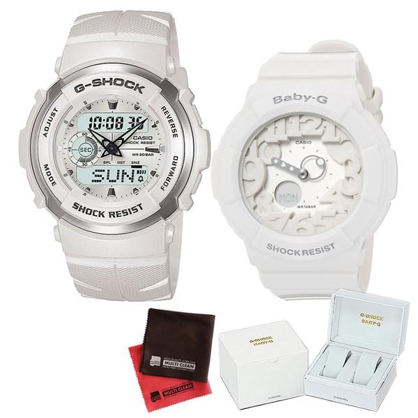 【セット】 [カシオ]CASIO 腕時計 G-300LV-7AJF メンズ・BGA-131-7BJF レディース・専用ペア箱(Gショック& ベビーG)・マイクロファイバークロス 2枚セット V-81776 G300LV7AJF BGA1317BJF [クオーツ]