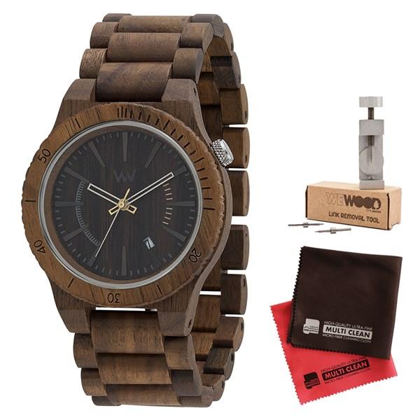 【セット】【正規輸入品】[ウィーウッド]WEWOOD 腕時計 9818047 木製 ASSUNT NUT&バンド調整キット&マイクロファイバークロス2枚【木製バンド クオーツ アナログ表示】