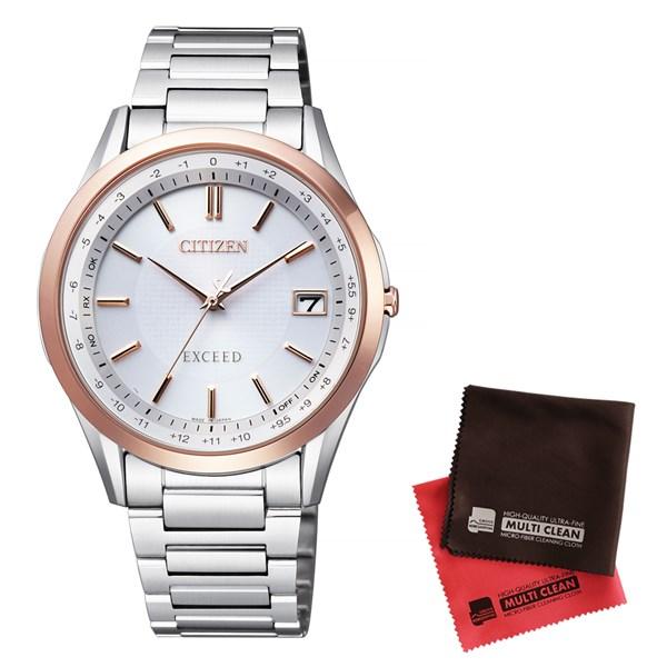 【セット】【国内正規品】[シチズン]CITIZEN 腕時計 CB1114-52A [エクシード]EXCEED メンズ エコ・ドライブ電波時計 ダイレクトフライト&クロス2枚セット