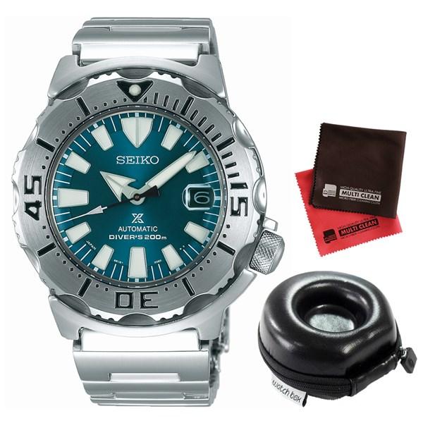 (セット)(国内正規品)(セイコー)SEIKO 腕時計 SZSC005 (プロスペックス)PROSPEX メンズ ネット流通限定&腕時計ケース1本用 丸型・クロス2枚(ステンレスバンド 自動巻き アナログ表示)(オンライン限定)