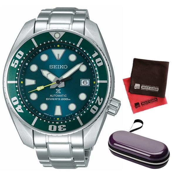 (セット)(国内正規品)(セイコー)SEIKO 腕時計 SZSC004 (プロスペックス)PROSPEX メンズ ネット流通限定&腕時計ケース1本用 パープル・クロス2枚(ステンレスバンド 自動巻き アナログ表示)