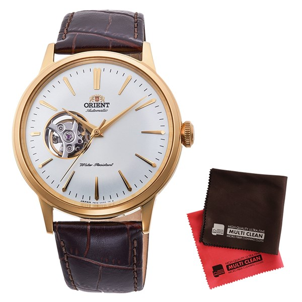 【セット】【国内正規品】[オリエント]ORIENT 腕時計 RN-AG0006S [クラシック]CLASSIC セミスケルトン メンズ&クロス2枚セット【牛革(カーフ)バンド 自動巻き】