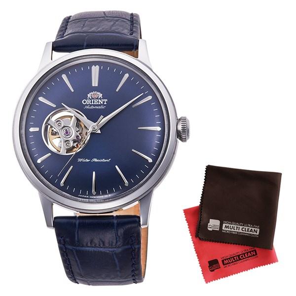 【セット】【国内正規品】[オリエント]ORIENT 腕時計 RN-AG0008L [クラシック]CLASSIC セミスケルトン メンズ&クロス2枚セット【牛革(カーフ)バンド 自動巻き】