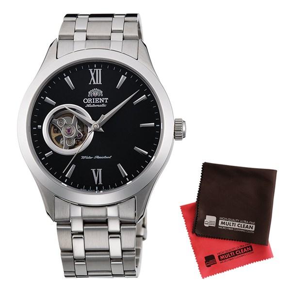 【セット】【国内正規品】[オリエント]ORIENT 腕時計 RN-AG0001B [スタンダード]STANDARD セミスケルトン ブレスタイプ メンズ&クロス2枚セット【ステンレスバンド 自動巻き】