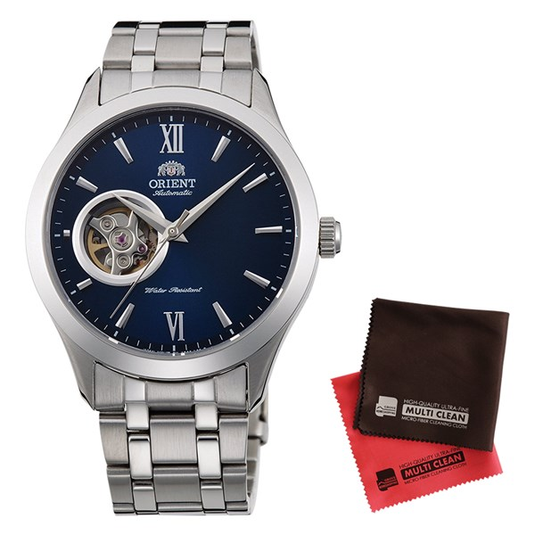 【セット】【国内正規品】[オリエント]ORIENT 腕時計 RN-AG0003L [スタンダード]STANDARD セミスケルトン ブレスタイプ メンズ&クロス2枚セット【ステンレスバンド 自動巻き】