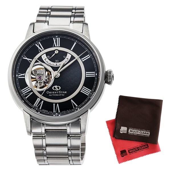 【セット】【国内正規品】[オリエント]ORIENT 腕時計 RK-HH0004B [オリエントスター]ORIENTSTAR セミスケルトン メンズ&クロス2枚セット【ステンレスバンド 自動巻き】