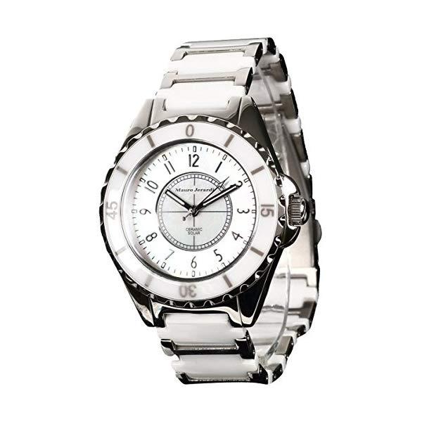 【正規輸入品】(マウロジェラルディ)Mauro Jerardi 腕時計 MJ041-2 メンズ(セラミックバンド ソーラー アナログ)