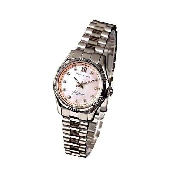 【正規輸入品】(マウロジェラルディ)Mauro Jerardi 腕時計 MJ038-3 レディース(ステンレスバンド ソーラー アナログ)