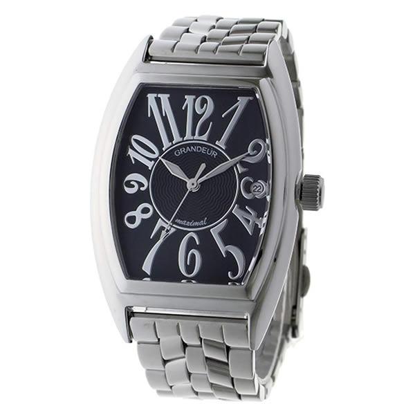 【正規輸入品】(グランドール)GRANDEUR 腕時計 JGR001W2 メンズ 日本製 トノー型(ステンレスバンド クオーツ アナログ)