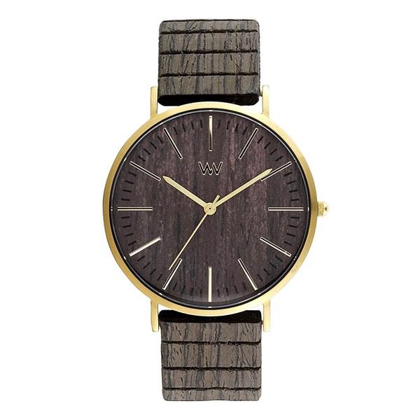 【正規輸入品】(ウィーウッド)WEWOOD 腕時計 9818167 HORIZON GOLD EBONY メンズ 木製(木製バンド クオーツ アナログ)