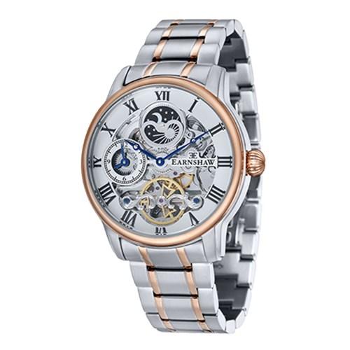 【正規輸入品】(アーンショウ)EARNSHAW 腕時計 ES-8006-33 LONGITUDE メンズ(ステンレスバンド 自動巻き 多針アナログ)