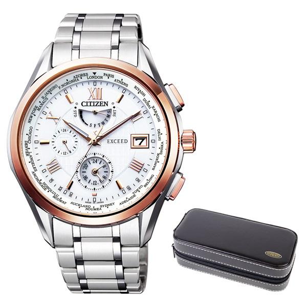 (時計ケースセット)(国内正規品)(シチズン)CITIZEN 腕時計 AT9114-57A (エクシード)EXCEED メンズ(チタンバンド 電波ソーラー 多針アナログ)
