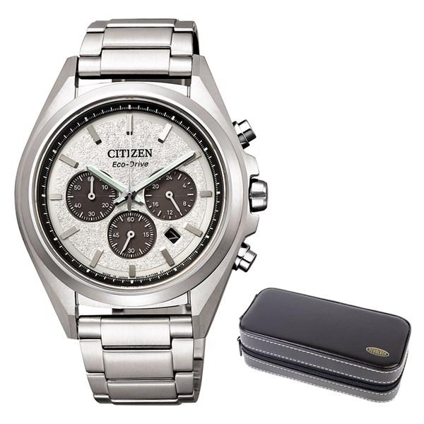 (時計ケースセット)(国内正規品)(シチズン)CITIZEN 腕時計 CA4390-55A (アテッサ)ATTESA メンズ クロノグラフ(チタンバンド ソーラー 多針アナログ)