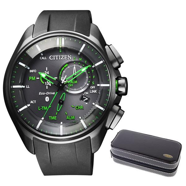 【時計ケースセット】【国内正規品】(シチズン)CITIZEN 腕時計 BZ1045-05E エコドライブ Bluetooth メンズ スマートウォッチ クロノグラフ(ウレタンバンド ソーラー 多針アナログ)