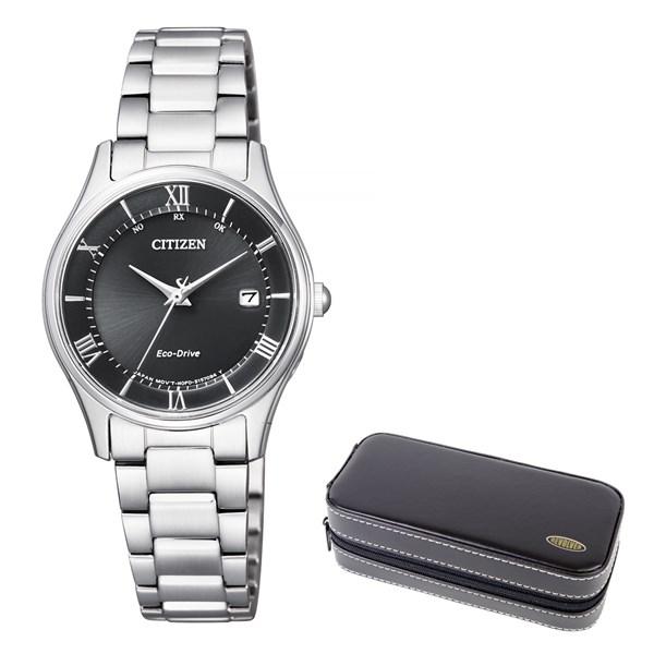 (時計ケースセット)(国内正規品)(シチズン)CITIZEN 腕時計 ES0000-79E シチズンコレクション レディース エコドライブ電波時計 薄型(ステンレスバンド 電波ソーラー アナログ)
