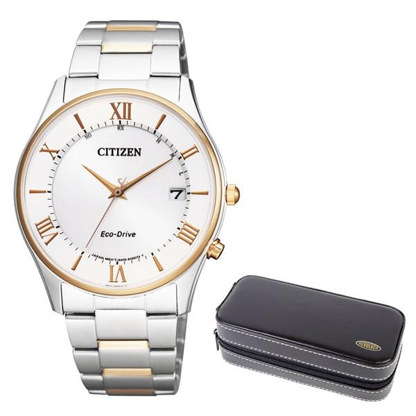 【時計ケースセット】【国内正規品】(シチズン)CITIZEN 腕時計 AS1062-59A シチズンコレクション メンズ エコドライブ 薄型 ペアモデル(ステンレスバンド 電波ソーラー アナログ 父の日)