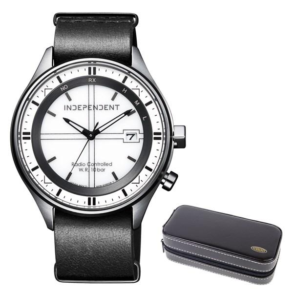 (時計ケースセット)(国内正規品)(シチズン)CITIZEN 腕時計 KL8-643-10 (インディペンデント)INDEPENDENT メンズ TIMELESS line(牛革バンド 電波ソーラー アナログ)