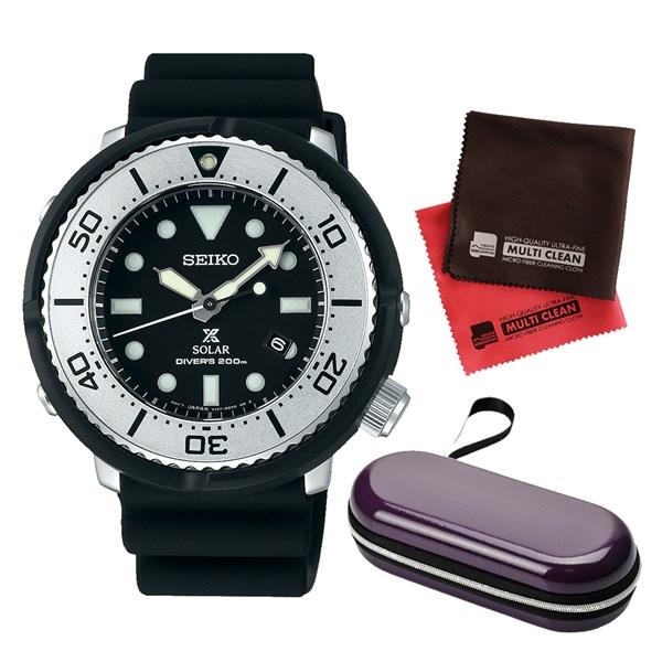 (セット)(国内正規品)(セイコー)SEIKO 腕時計 SBDN047 (プロスペックス)PROSPEX メンズ LOWERCASE プロデュースモデル&腕時計ケース1本用・クロス2枚(シリコンバンド ソーラー アナログ)