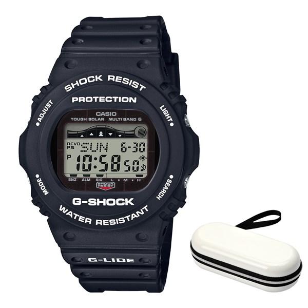(ケースセット)(国内正規品)(カシオ)CASIO 腕時計 GWX-5700CS-1JF (ジーショック)G-SHOCK メンズ G-LIDE&腕時計ケース1本用 ホワイト(樹脂バンド 電波ソーラー デジタル)