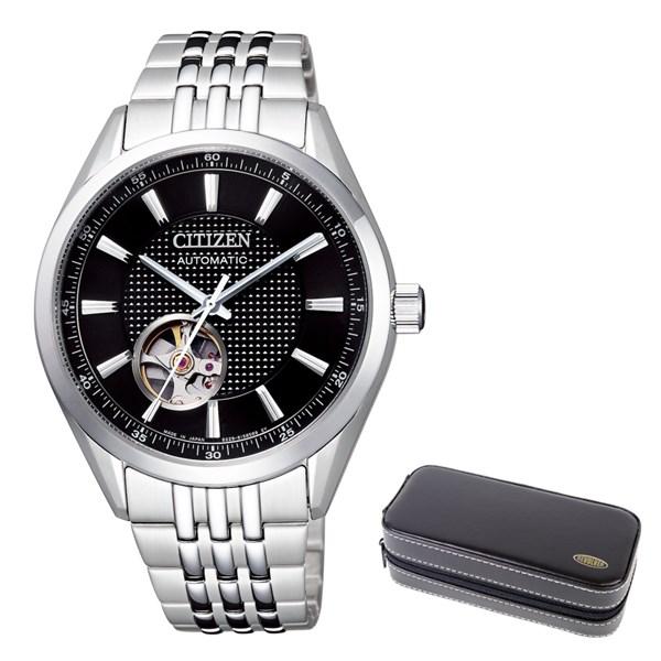 (時計ケースセット)(国内正規品)(シチズン)CITIZEN 腕時計 NH9110-81E シチズンコレクション メンズ クラシカル オープンハート メカニカル(ステンレスバンド 自動巻き(手巻付) アナログ)