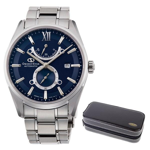 (時計ケースセット)(国内正規品)(オリエントスター)ORIENTSTAR 腕時計 RK-HK0002L コンテンポラリー メンズ スリムデイト(ステンレスバンド 自動巻き(手巻付) 多針アナログ)