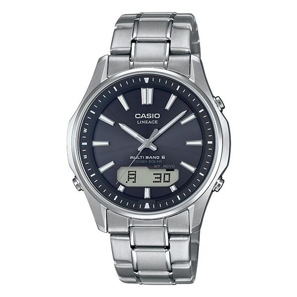 (国内正規品)(カシオ)CASIO 腕時計 LCW-M100TSE-1AJF LINEAGE(リニエージ) メンズ タフソーラー(チタンバンド 電波ソーラー アナデジ)