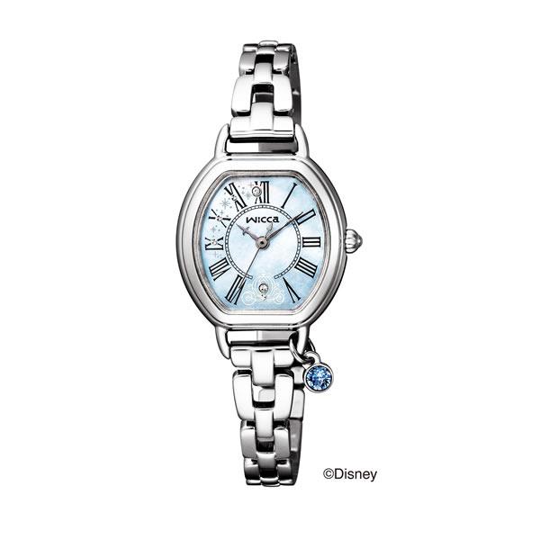 (国内正規品)(シチズン)CITIZEN 腕時計 KP2-515-71 (ウィッカ)wicca レディース Disneyコレクション シンデレラ 限定(ステンレスバンド ソーラー アナログ)