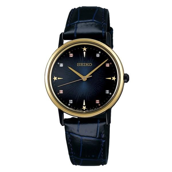(国内正規品)(セイコー)SEIKO 腕時計 SCXP142 セイコーセレクション レディース ゴールドフェザー 2018 クリスマス限定 流通限定モデル(牛革バンド クオーツ アナログ)
