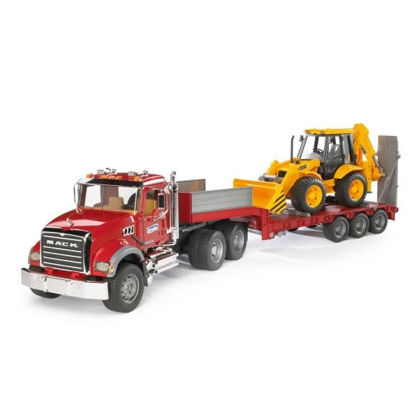 Bruder Pro Series(ブルーダープロシリーズ) 1/16知育玩具 MACK トラック&JCB 4CX バックホーローダー BR02813 【玩具/おもちゃ】