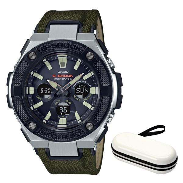 (時計ケースセット)(国内正規品)(カシオ)CASIO 腕時計 GST-W330AC-3AJF (ジーショック)G-SHOCK メンズ G-STEEL(合皮/クロスバンド 電波ソーラー アナデジ)