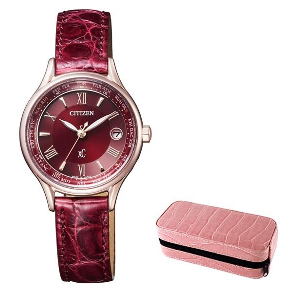 (時計ケースセット)(国内正規品)(シチズン)CITIZEN 腕時計 EC1164-02W (クロスシー)xC レディース ティタニアライン ハッピーフライト サクラピンク(牛革バンド 電波ソーラー アナログ)