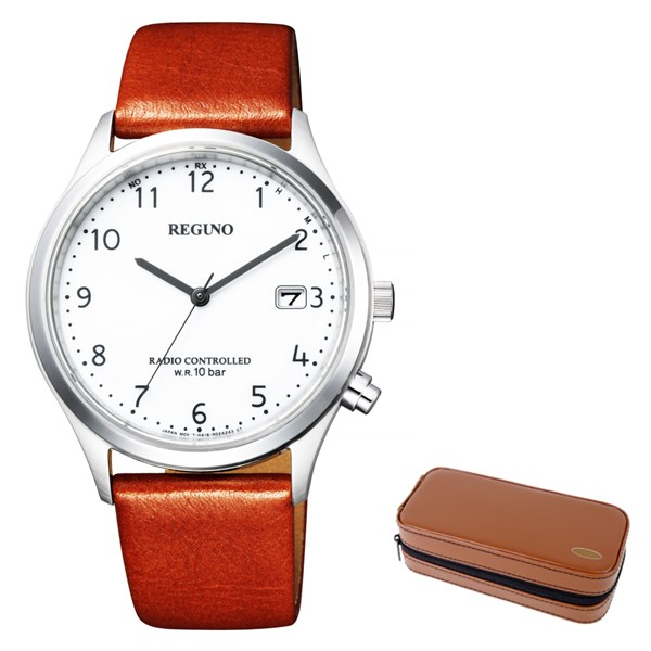 (時計ケースセット)(国内正規品)(シチズン)CITIZEN 腕時計 KL8-911-10 (レグノ)REGUNO メンズ(牛革バンド 電波ソーラー アナログ)