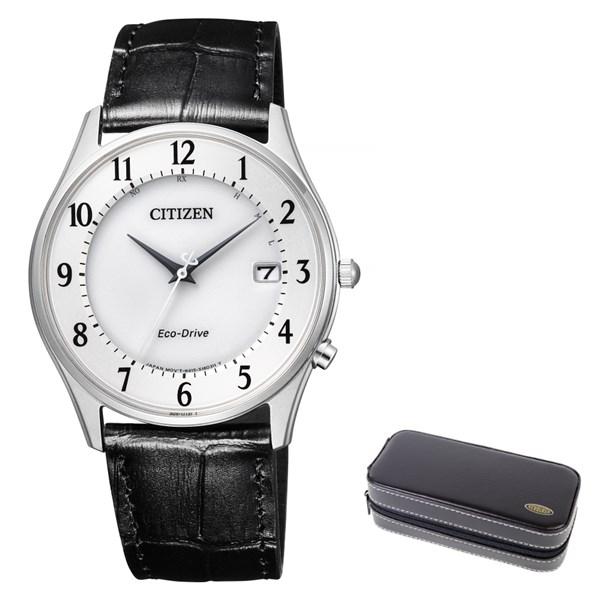 (時計ケースセット)(国内正規品)(シチズン)CITIZEN 腕時計 AS1060-11A シチズンコレクション メンズ 薄型 ペアモデル(牛革バンド 電波ソーラー アナログ)