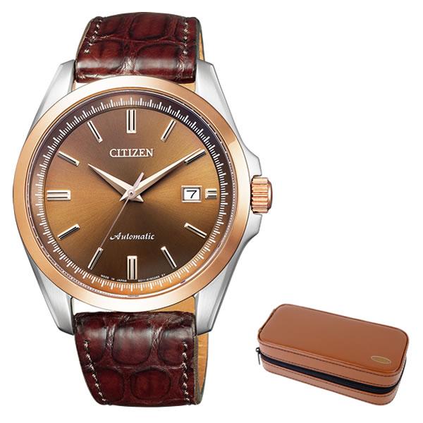 (時計ケースセット)(国内正規品)(シチズン)CITIZEN 腕時計 NB1045-16W Cコレクション メンズ メカニカル(ワニ革バンド 自動巻き アナログ)