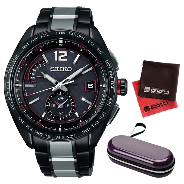 (時計ケース・クロスセット)(国内正規品)(セイコー)SEIKO 腕時計 SAGA267 (ブライツ)BRIGHTZ メンズ(チタンバンド 電波ソーラー 多針アナログ)