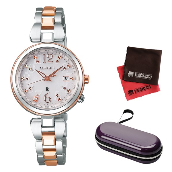 (時計ケース・クロスセット)(国内正規品)(セイコー)SEIKO 腕時計 SSQV048 (ルキア)LUKIA レディース 綾瀬はるか着用モデル(チタンバンド 電波ソーラー アナログ)