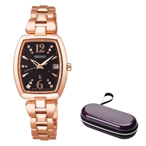 (時計ケースセット)(国内正規品)(セイコー)SEIKO 腕時計 SSVW128 (ルキア)LUKIA レディース(ステンレスバンド 電波ソーラー アナログ)