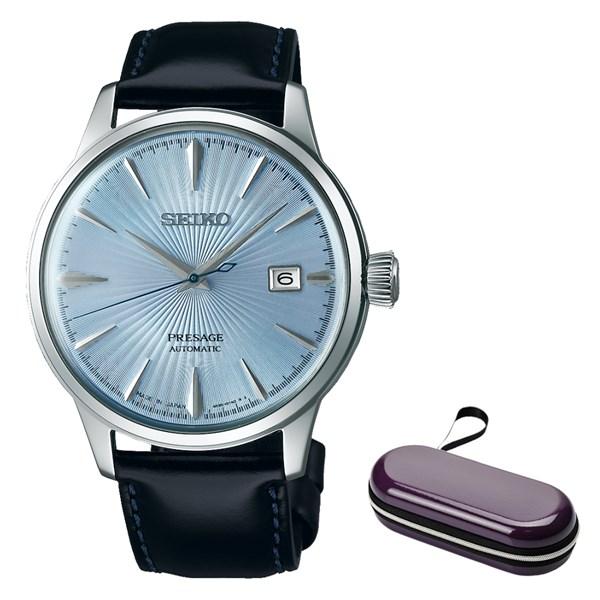 (時計ケースセット)(国内正規品)(セイコー)SEIKO 腕時計 SARY125 (プレザージュ)PRESAGE メンズ ベーシックライン(牛革バンド 自動巻き(手巻付) アナログ)