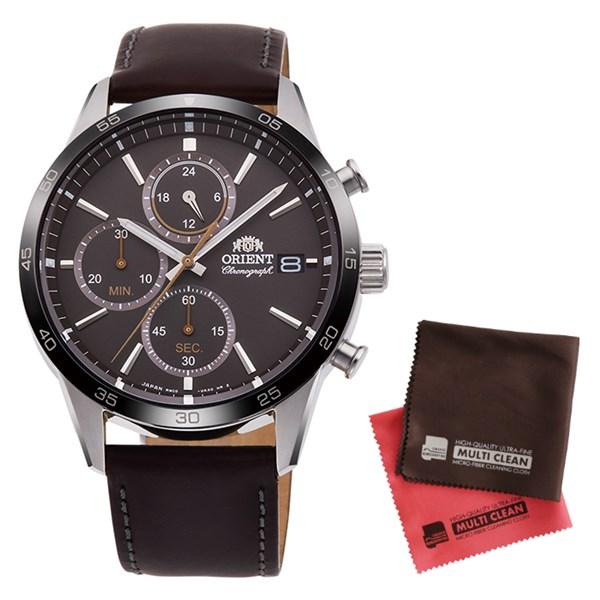 (クロスセット)(国内正規品)(オリエント)ORIENT 腕時計 RN-KU0004N (コンテンポラリー)CONTEMPORARY メンズ クロノグラフ(牛革バンド クオーツ 多針アナログ)