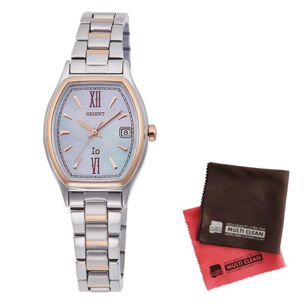 (クロスセット)(国内正規品)(オリエント)ORIENT 腕時計 RN-WG0010A iO(イオ) レディース(ステンレスバンド ソーラー アナログ)