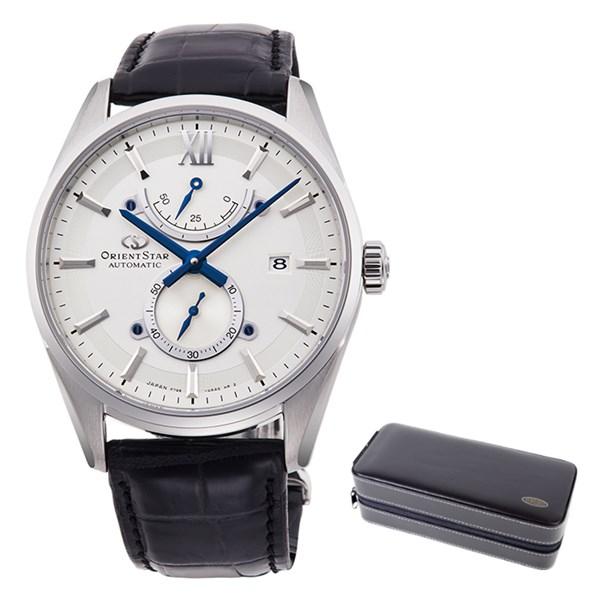 (ケースセット)(国内正規品)(オリエントスター)ORIENTSTAR 腕時計 RK-HK0005S コンテンポラリー メンズ スリムデイト(ワニ革バンド 自動巻き(手巻付) 多針アナログ)