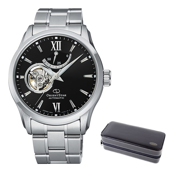 (ケースセット)(国内正規品)(オリエントスター)ORIENTSTAR 腕時計 RK-AT0001B コンテンポラリー メンズ セミスケルトン(ステンレスバンド 自動巻き(手巻付) 多針アナログ)