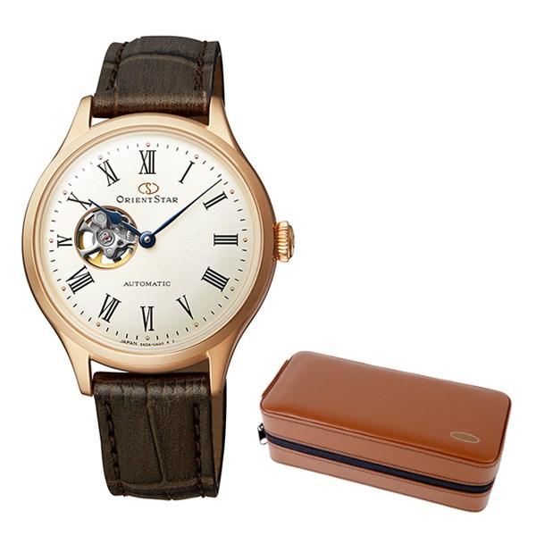 (ケースセット)(国内正規品)(オリエントスター)ORIENTSTAR 腕時計 RK-ND0003S クラシック レディース クラシックセミスケルトン(牛革バンド 自動巻き(手巻付) アナログ)