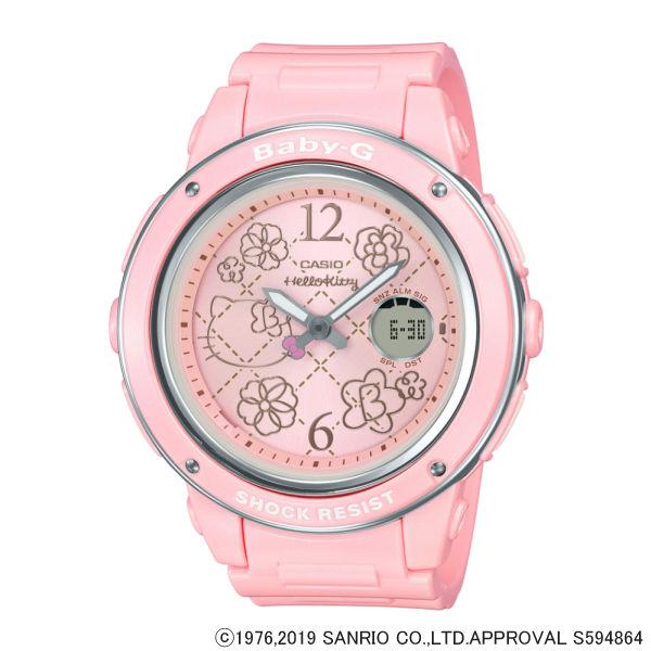 (3月新商品)(国内正規品)(カシオ)CASIO 腕時計 BGA-150KT-4BJR (ベビーG)BABY-G レディース HELLO KITTY ハローキティ コラボ限定モデル(樹脂バンド クオーツ アナデジ)