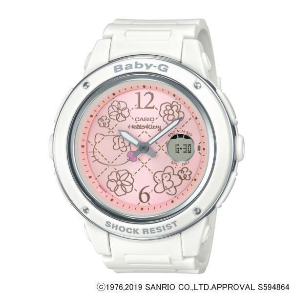 (3月新商品)(国内正規品)(カシオ)CASIO 腕時計 BGA-150KT-7BJR (ベビーG)BABY-G レディース HELLO KITTY ハローキティ コラボ限定モデル(樹脂バンド クオーツ アナデジ)
